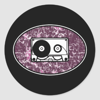 Rosa retro da cassete de banda magnética adesivo