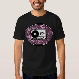 Rosa retro da cassete de banda magnética camisetas