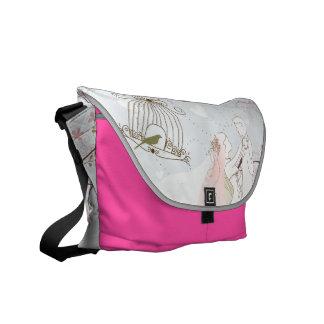 rosa romântico do saco do casamento bolsas mensageiro