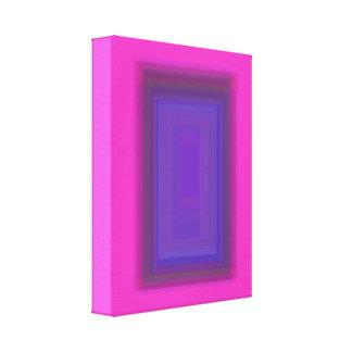 Rosa roxo da janela impressão de canvas envolvida