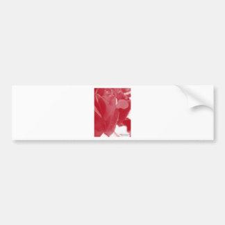 Rosa vermelha adesivo para carro