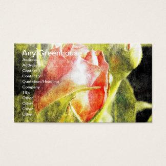 Rosa vermelha cartão de visitas