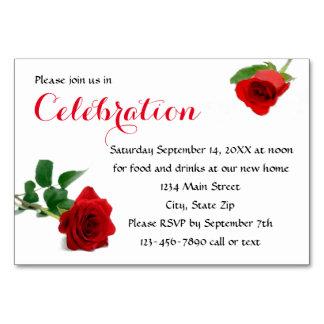 Rosa vermelha da aguarela - inserção do convite da
