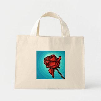 Rosa vermelha bolsas de lona