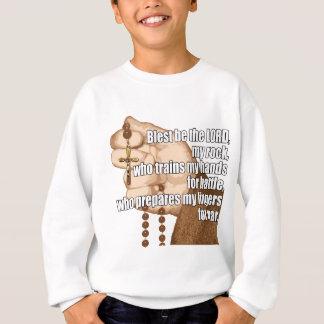 Rosário da batalha com luva 2 camiseta