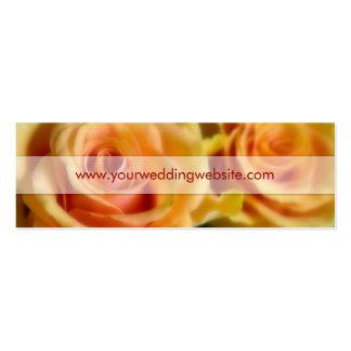 Rosas amarelos • Cartão de visita do Web site do c