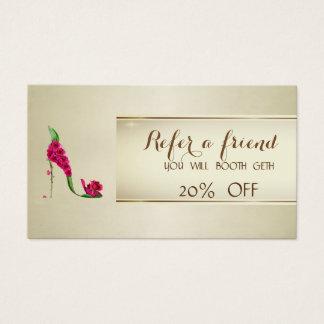 Rosas chiques elegantes, cartão da referência do
