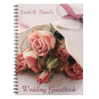 Rosas com linhos que wedding o guestbook cadernos espiral
