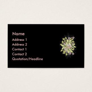 rosas cor-de-rosa cartão de visitas