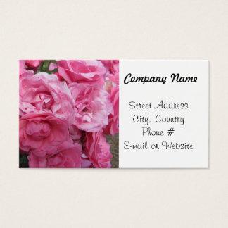 Rosas cor-de-rosa elegantes cartão de visitas
