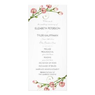 Rosas do jardim que Wedding o programa 10.16 X 22.86cm Panfleto