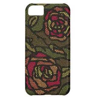 Rosas do mosaico de Camo Capa Para iPhone 5C