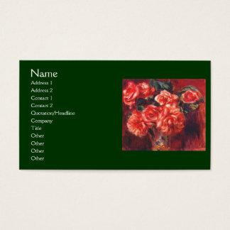 Rosas do musgo por Renoir Cartão De Visitas