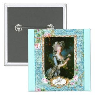 Rosas do rosa do laço de Marie Antoinette Boton