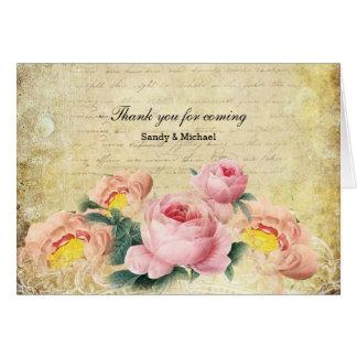 Rosas do vintage cartão comemorativo
