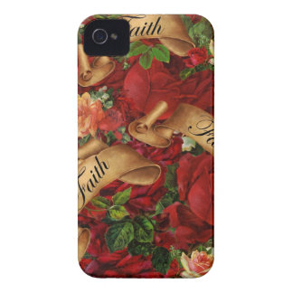 Rosas do vintage da caixa de Blackberry da fé Capinha iPhone 4