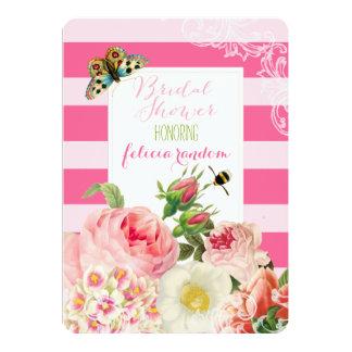Rosas do vintage de PixDezines/chuveiro nupcial Convites Personalizado