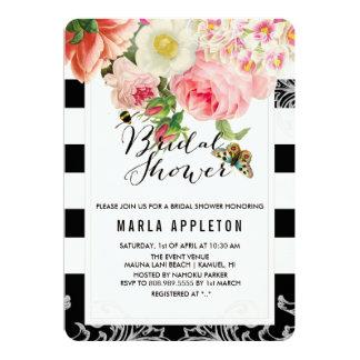 Rosas do vintage de PixDezines/chuveiro nupcial Convite 12.7 X 17.78cm