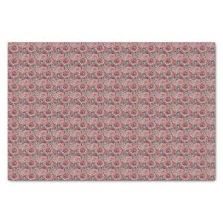 Rosas e lenço de papel cor-de-rosa do anel