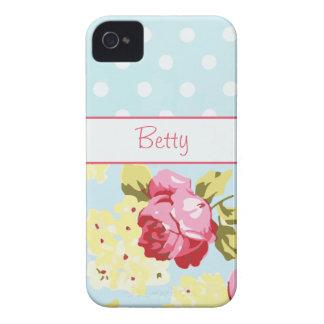 Rosas femininos e bolinhas capa para iPhone 4 Case-Mate