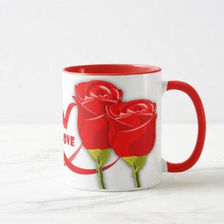 Rosas para a enfermeira. Caneca de café do