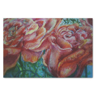 Rosas Pastel Papel De Seda
