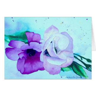 Rosas românticos cartão comemorativo