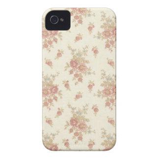Rosas românticos v5 do vintage capa de iPhone 4 Case-Mate