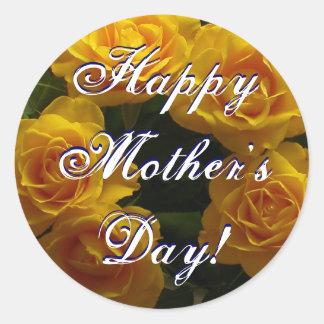 Rosas vermelhas felizes do dia das mães adesivo