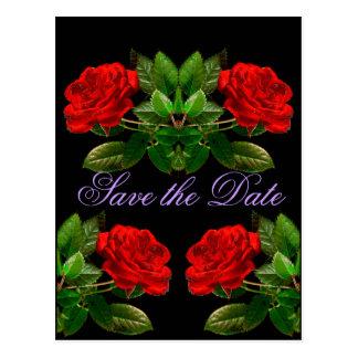Rosas vermelhas no design abstrato floral de velud cartoes postais