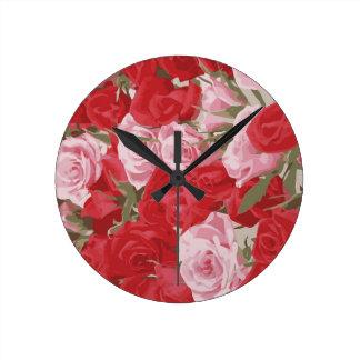 Rosas vermelhas para o Thalia Relógios Para Paredes