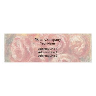 Rosas vermelhas por Pierre-Auguste Renoir Cartões De Visitas