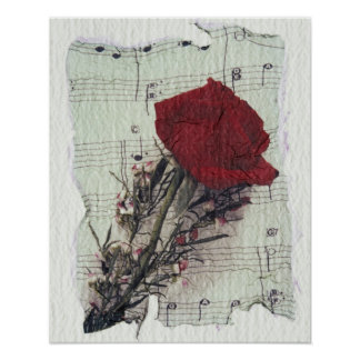 <Rose and Music> por Kim Koza 2 Pôster