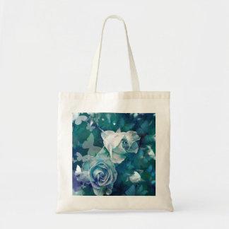 Rosebuds com borboletas bolsa tote