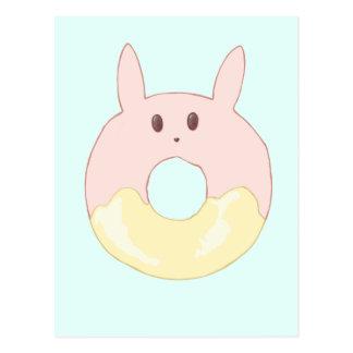 Rosquinha do coelho de Kawaii Cartão Postal