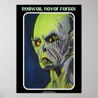 Roswell nunca esquece o poster