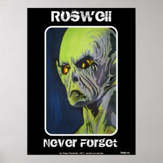"""""""Roswell, nunca esquece"""" o poster"""