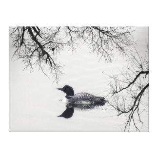 Rota branca preta do farol das canvas do lago do
