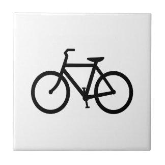 Rota preta da bicicleta azulejo de cerâmica
