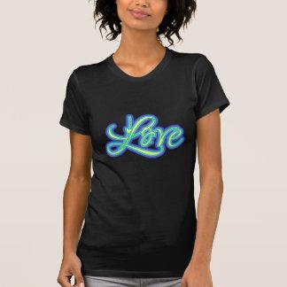 Roteiro azul 70s retro do amor camiseta