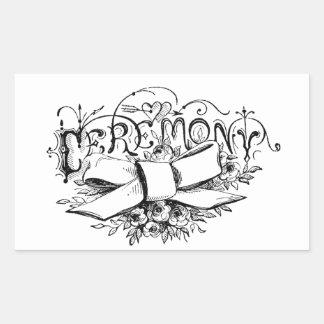 roteiro da cerimónia da tipografia do vintage adesivos retangulares