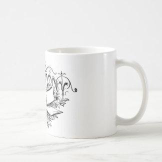 roteiro da cerimónia da tipografia do vintage caneca de café