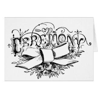 roteiro da cerimónia da tipografia do vintage cartão