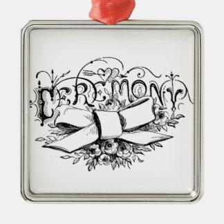 roteiro da cerimónia da tipografia do vintage ornamento para arvore de natal
