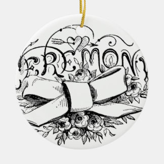 roteiro da cerimónia da tipografia do vintage enfeites de natal