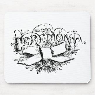 roteiro da cerimónia da tipografia do vintage mouse pad