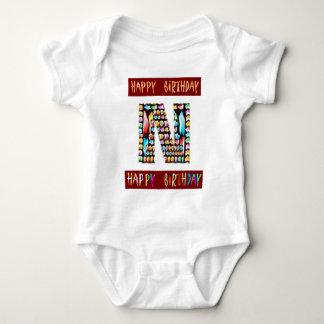 Roteiro de HappyBirthday - alfabeto ALFA Body Para Bebê