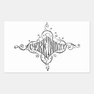 roteiro do casamento da CERIMÓNIA da tipografia do Adesivo Retangular