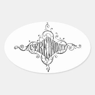 roteiro do casamento da CERIMÓNIA da tipografia do Adesivos Em Formato Oval