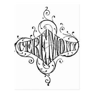 roteiro do casamento da CERIMÓNIA da tipografia do Cartão Postal